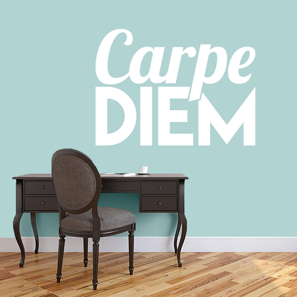"Carpe Diem Wall Decal 48"" wide x 35"" tall Sample Image"