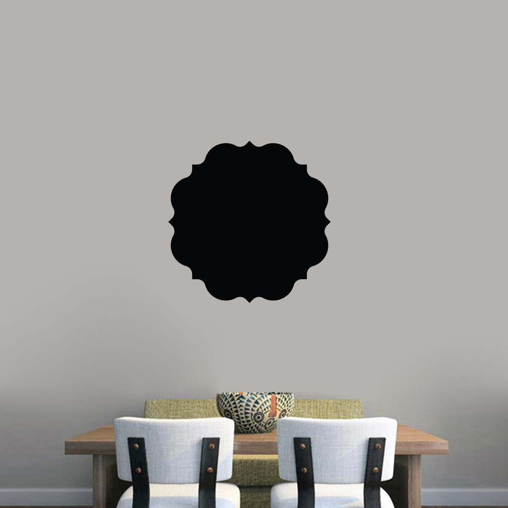 """Chalkboard Badge Wall Decals 18"""" wide x 18"""" tall Sample Image"""