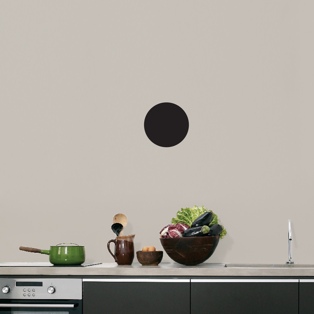 """Chalkboard Circle Wall Decals 6"""" wide x 6"""" tall Sample Image"""