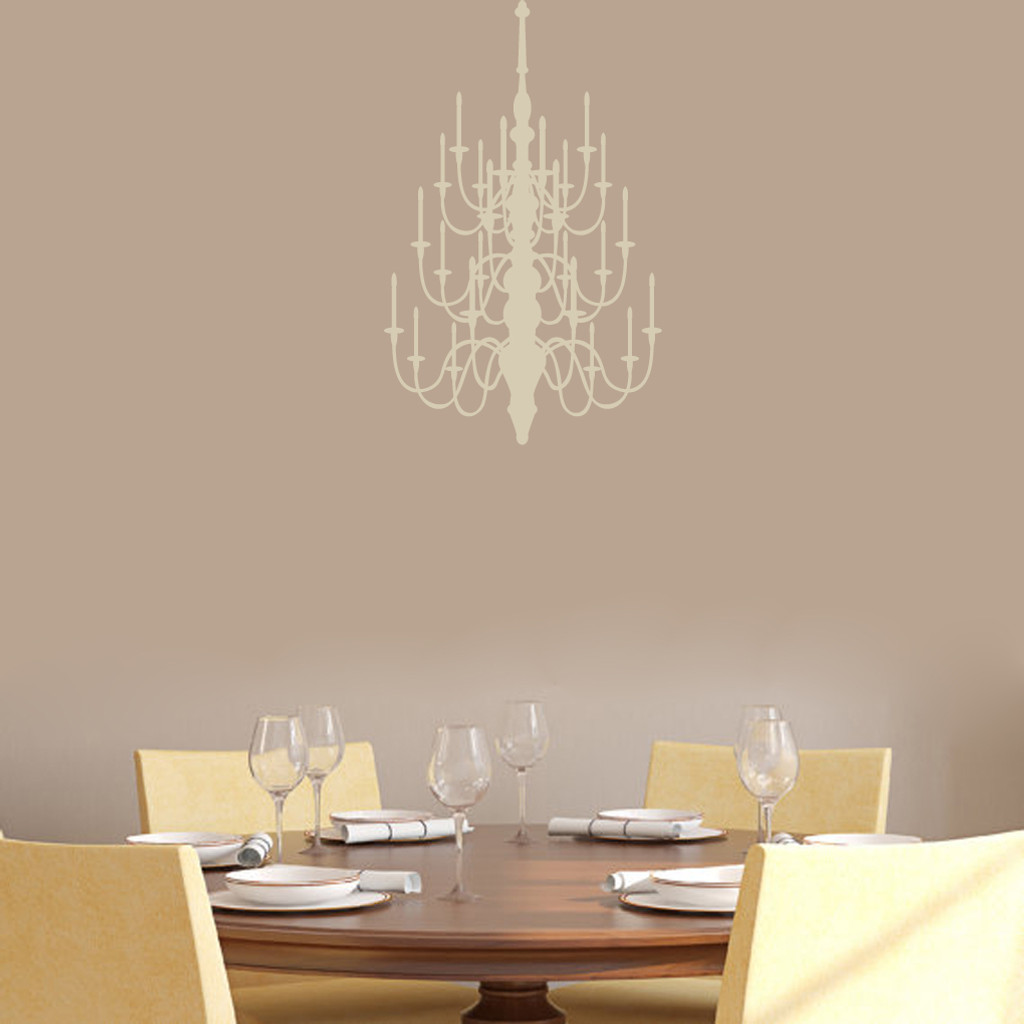 """Chandelier Wall Decal 15"""" wide x 24"""" tall Sample Image"""