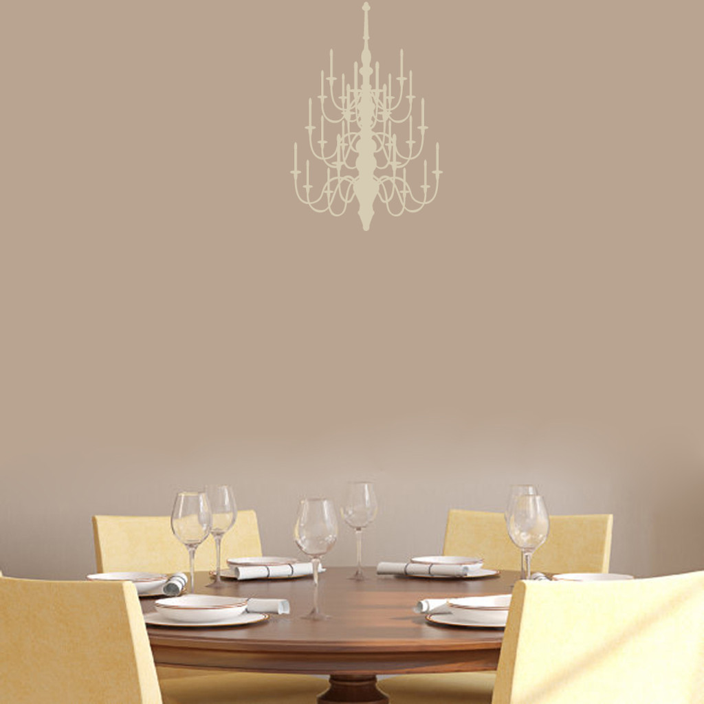 """Chandelier Wall Decal 12"""" wide x 18"""" tall Sample Image"""