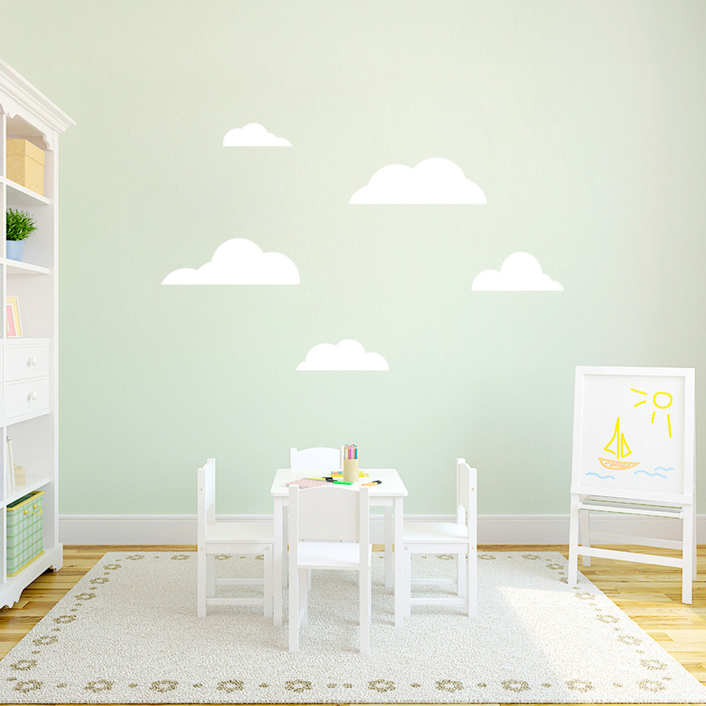 Clouds Wall Decals Medium Sample Image