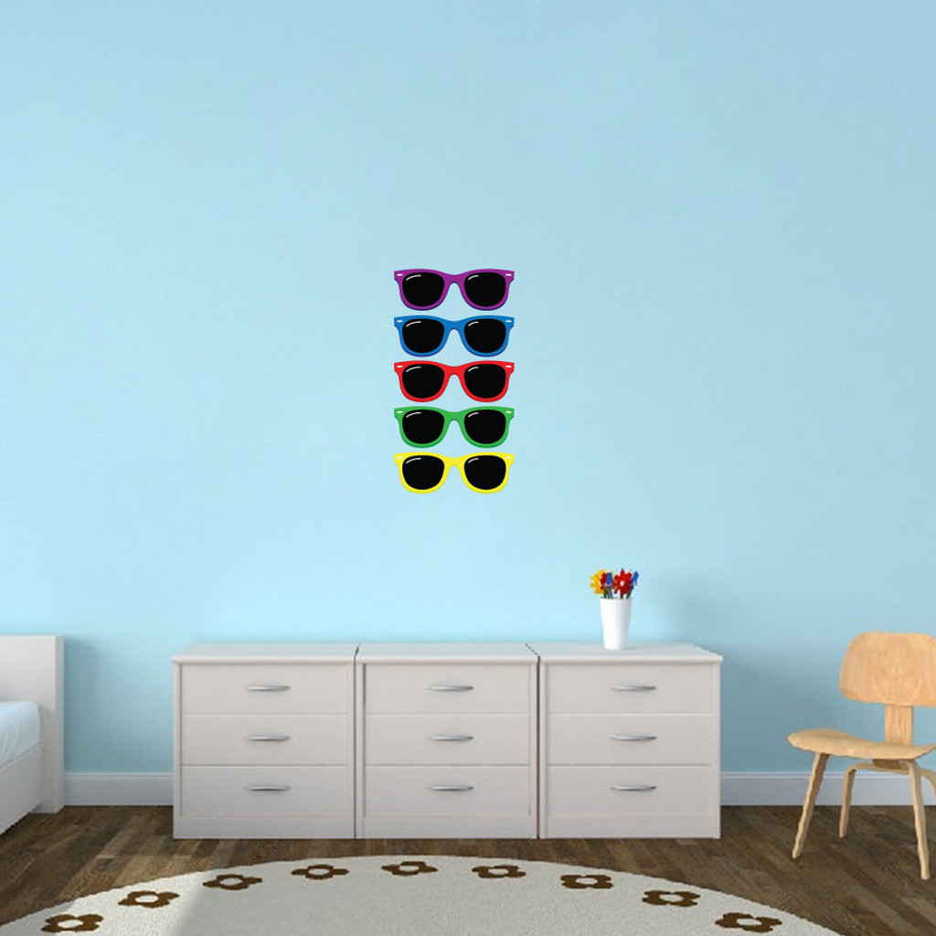 Colorful Sunglasses Printed Wall Decals Small Sample Image
