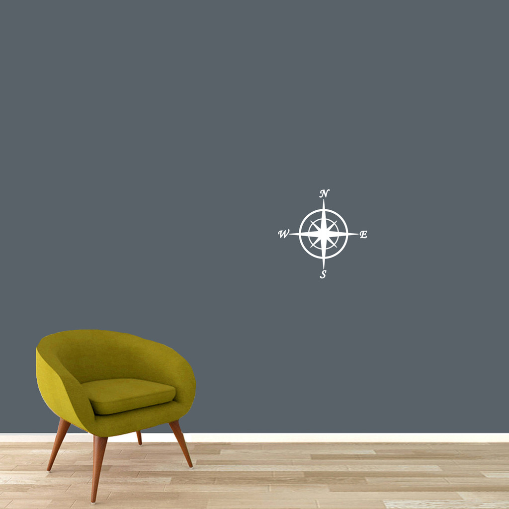 "Compass Wall Decal 12"" wide x 12"" tall Sample Image"