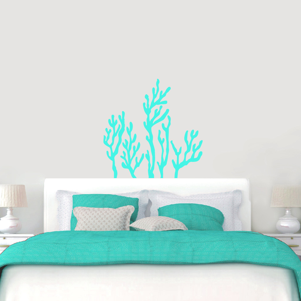 """Coral Reef Wall Decals Wall 36"""" wide x 36"""" tall Sample Image"""