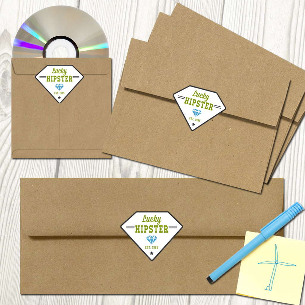 Custom Envelope Seals Decals and Stickers