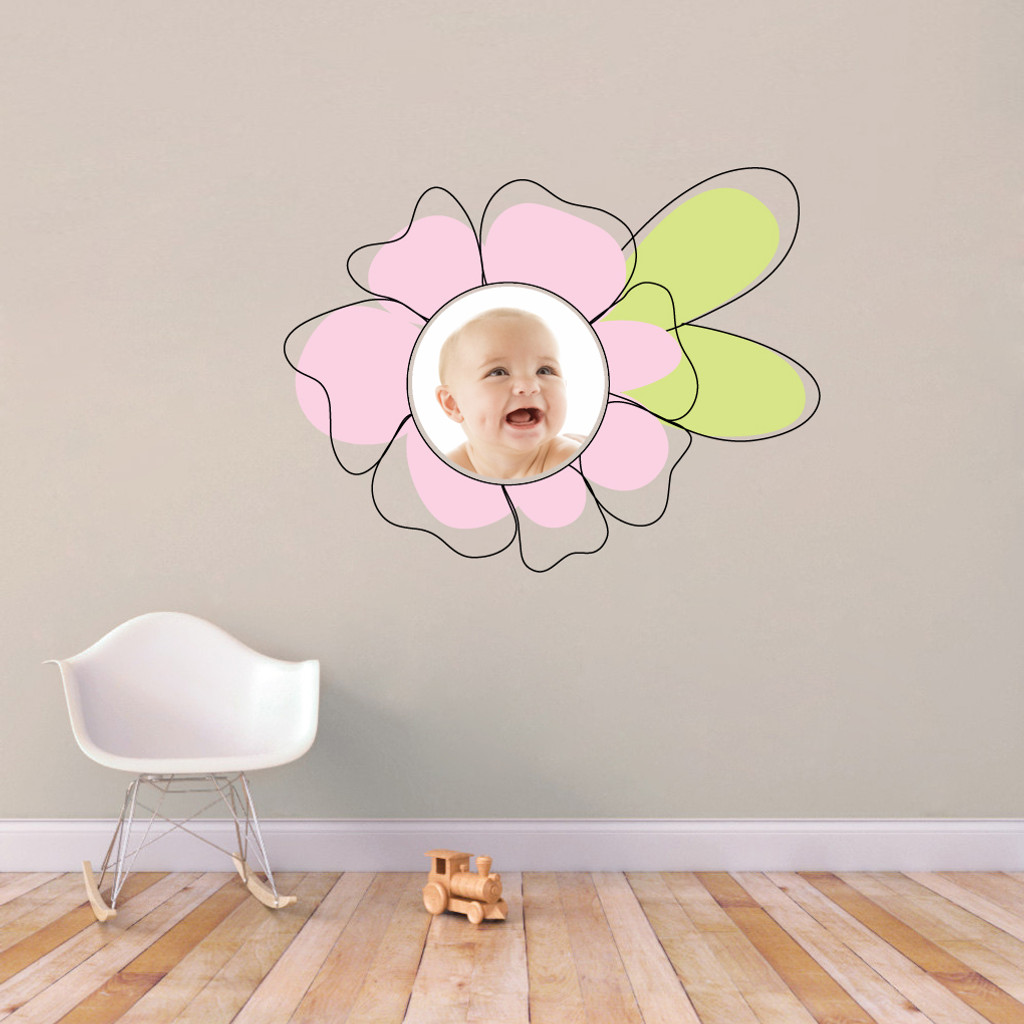 Custom Flower Photo Wall Decals and Stickers