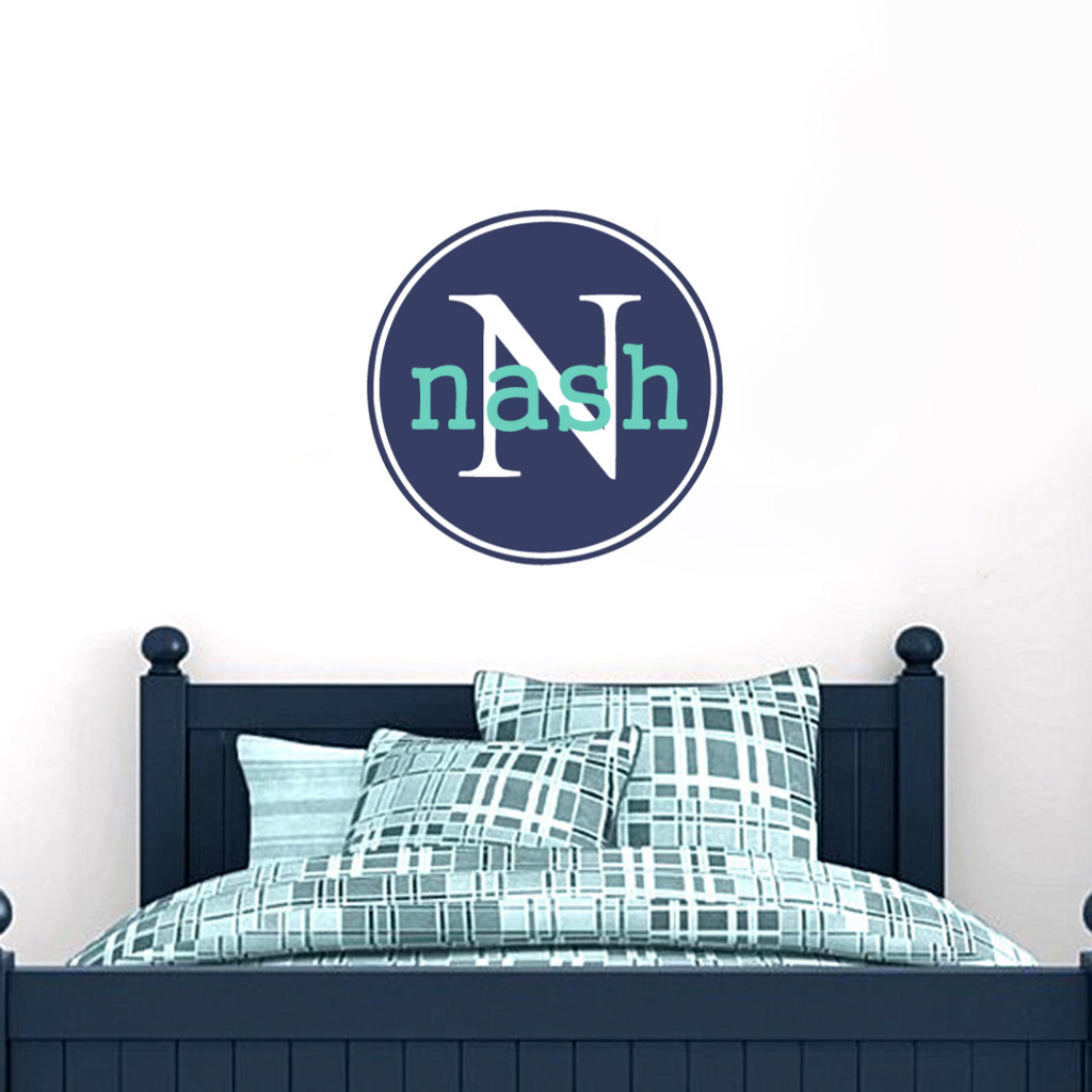 Custom Circle Monoram with Name Wall Decals and Stickers