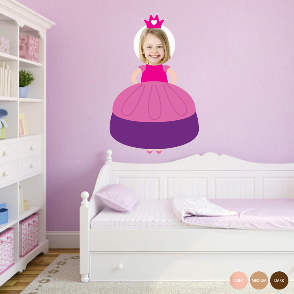 Custom Princess Photo Wall Decals and Stickers