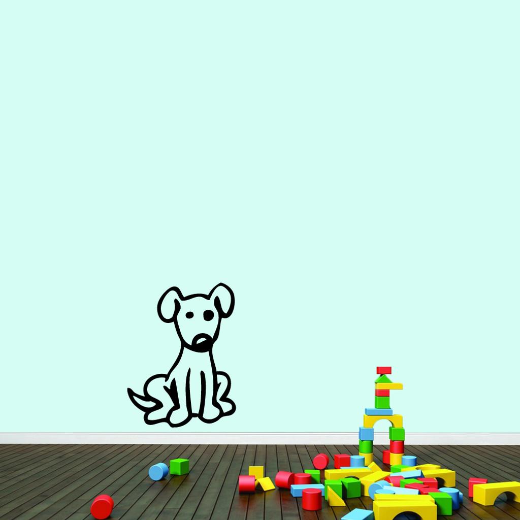 "Cartoon Dog Wall Decals 18"" wide x 24"" tall Sample Image"
