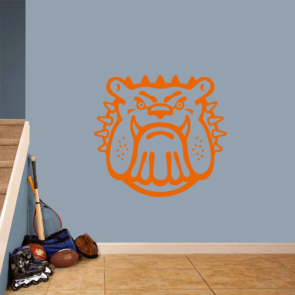 "Bulldog Mascot Wall Decals 36"" wide x 33"" tall Sample Image"