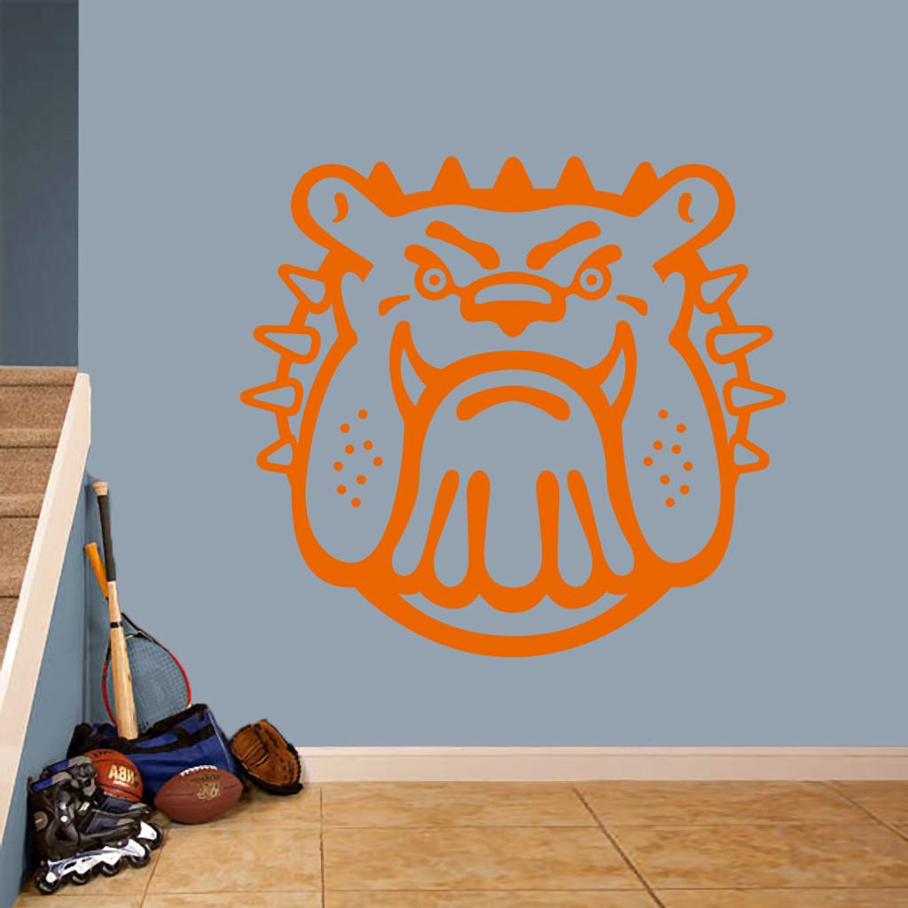 "Bulldog Mascot Wall Decals 48"" wide x 44"" tall Sample Image"