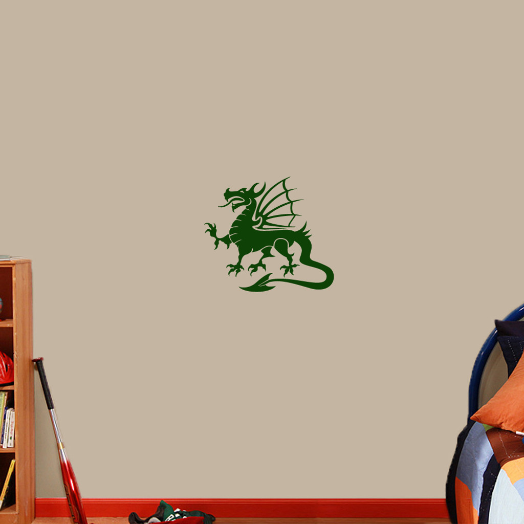 """Dragon Mascot Wall Decals 18"""" wide x 16"""" tall Sample Image"""