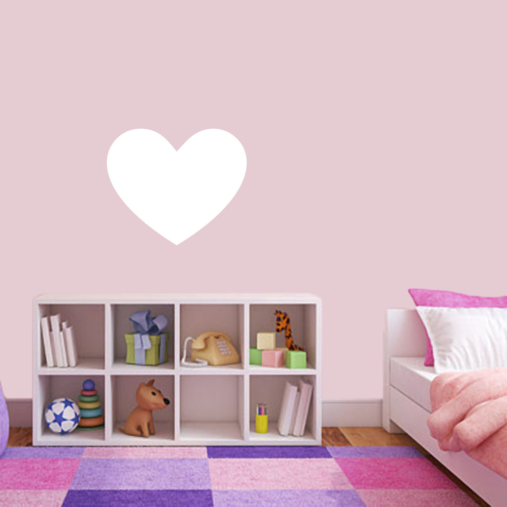"""Dry Erase Heart Wall Decals 18"""" wide x 15"""" tall Sample Image"""