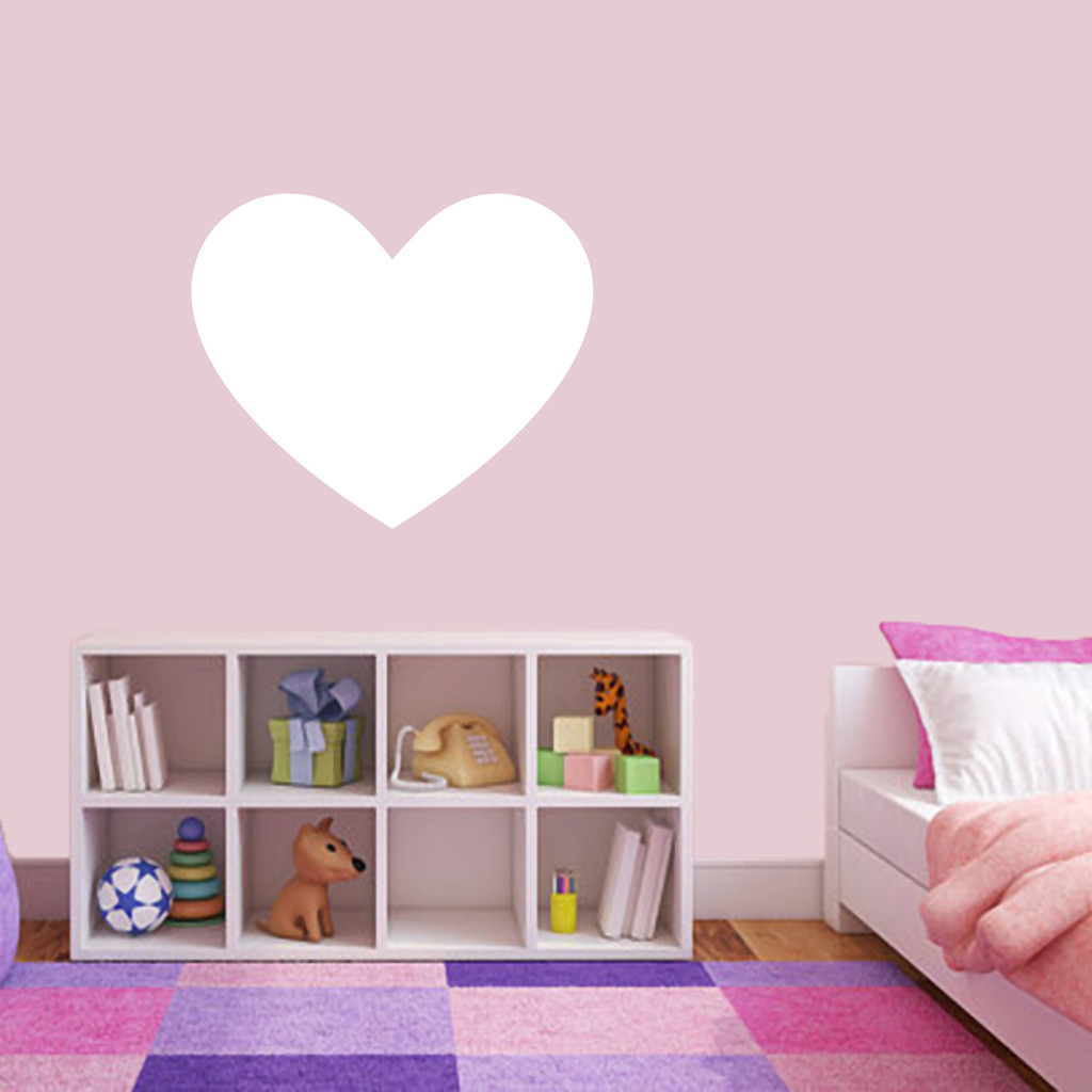 """Dry Erase Heart Wall Decals 24"""" wide x 20"""" tall Sample Image"""