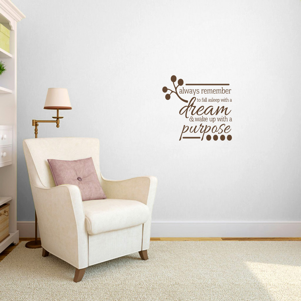 Wake Up To A Fresh Bedroom Style: Wake Up With A Purpose Bedroom Wall Decals And Stickers