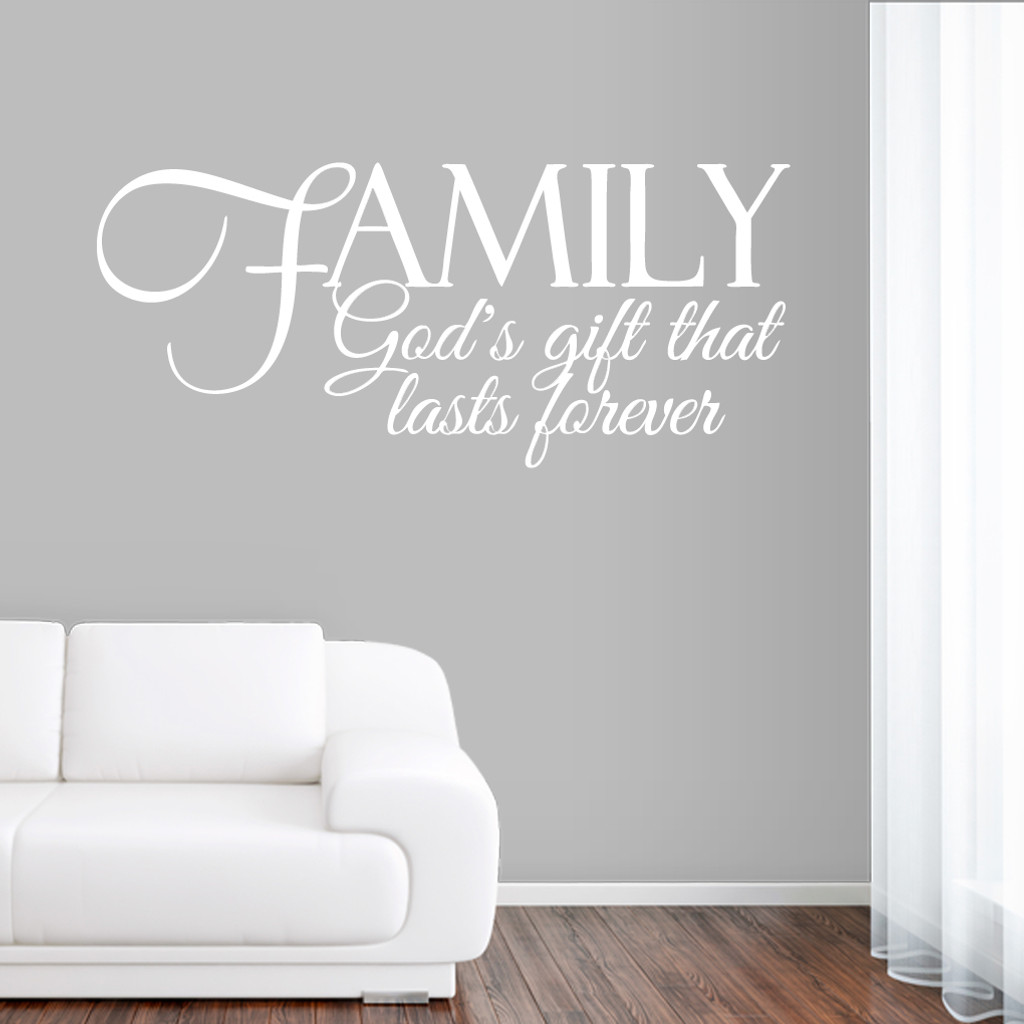 Family God's Gift Wall Decals and Stickers
