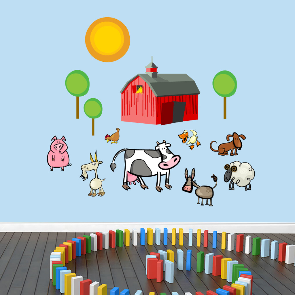 Farm Scene Printed Wall Decals and Wall Stickers
