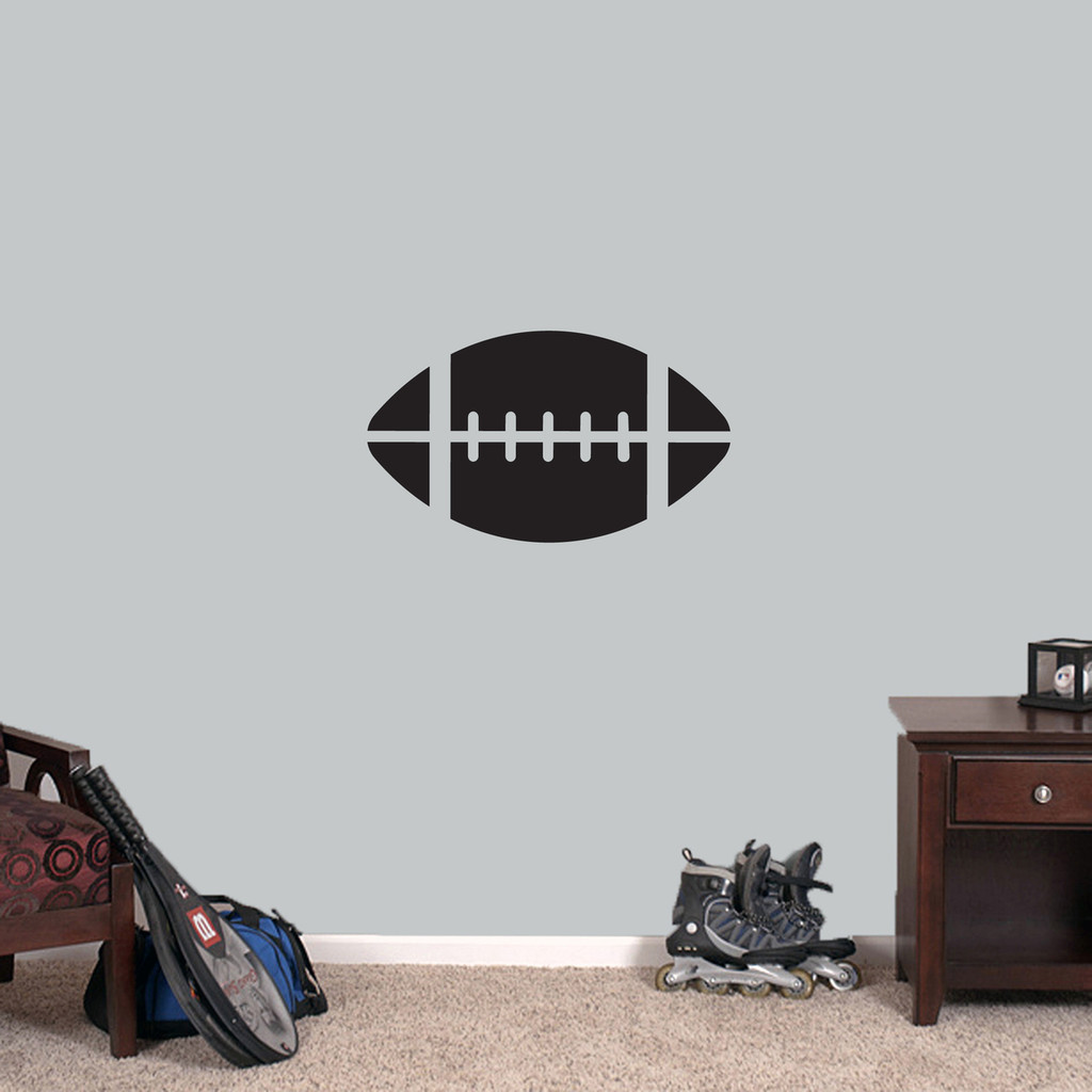 """Football Wall Decals 24"""" wide x 14"""" tall Sample Image"""
