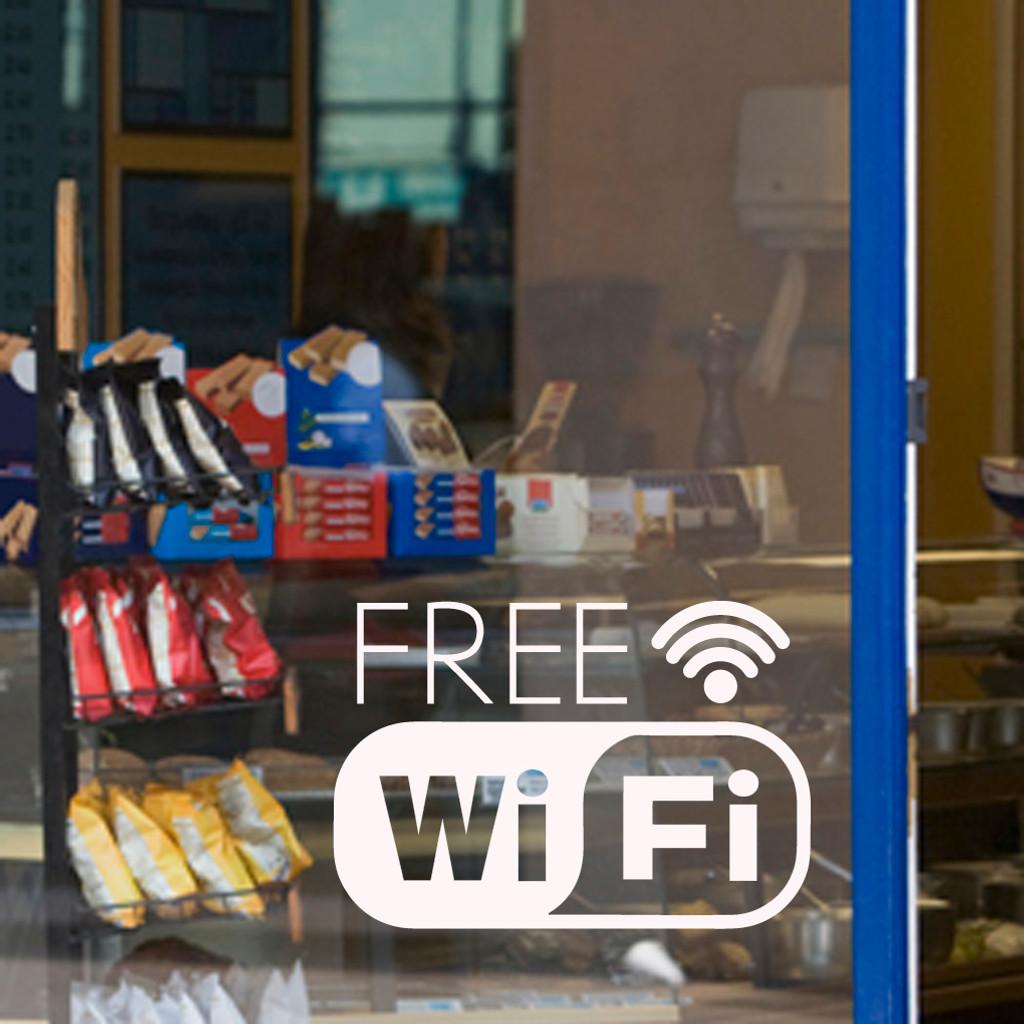 Free Wifi Window or Wall Decal Sample Image