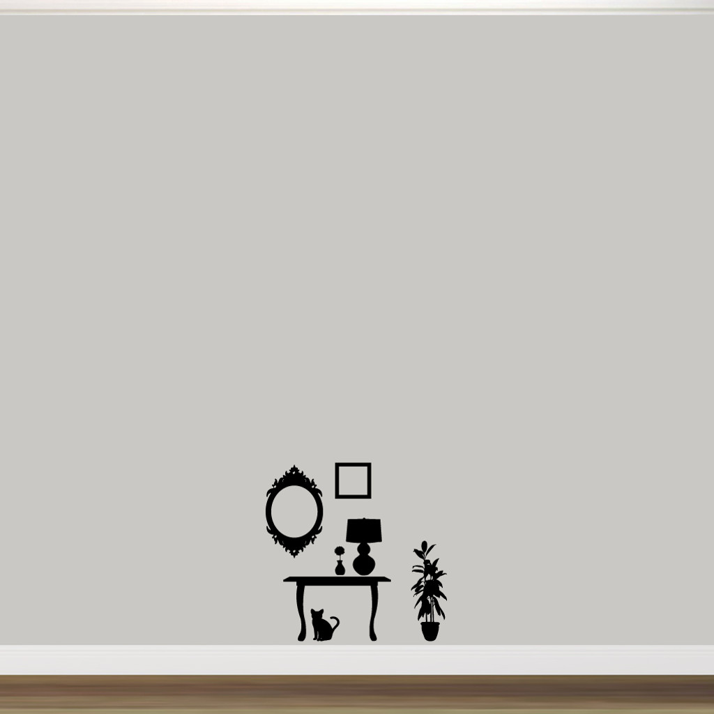 Furniture Silhouettes Wall Decals Wall Stickers Small Sample Image