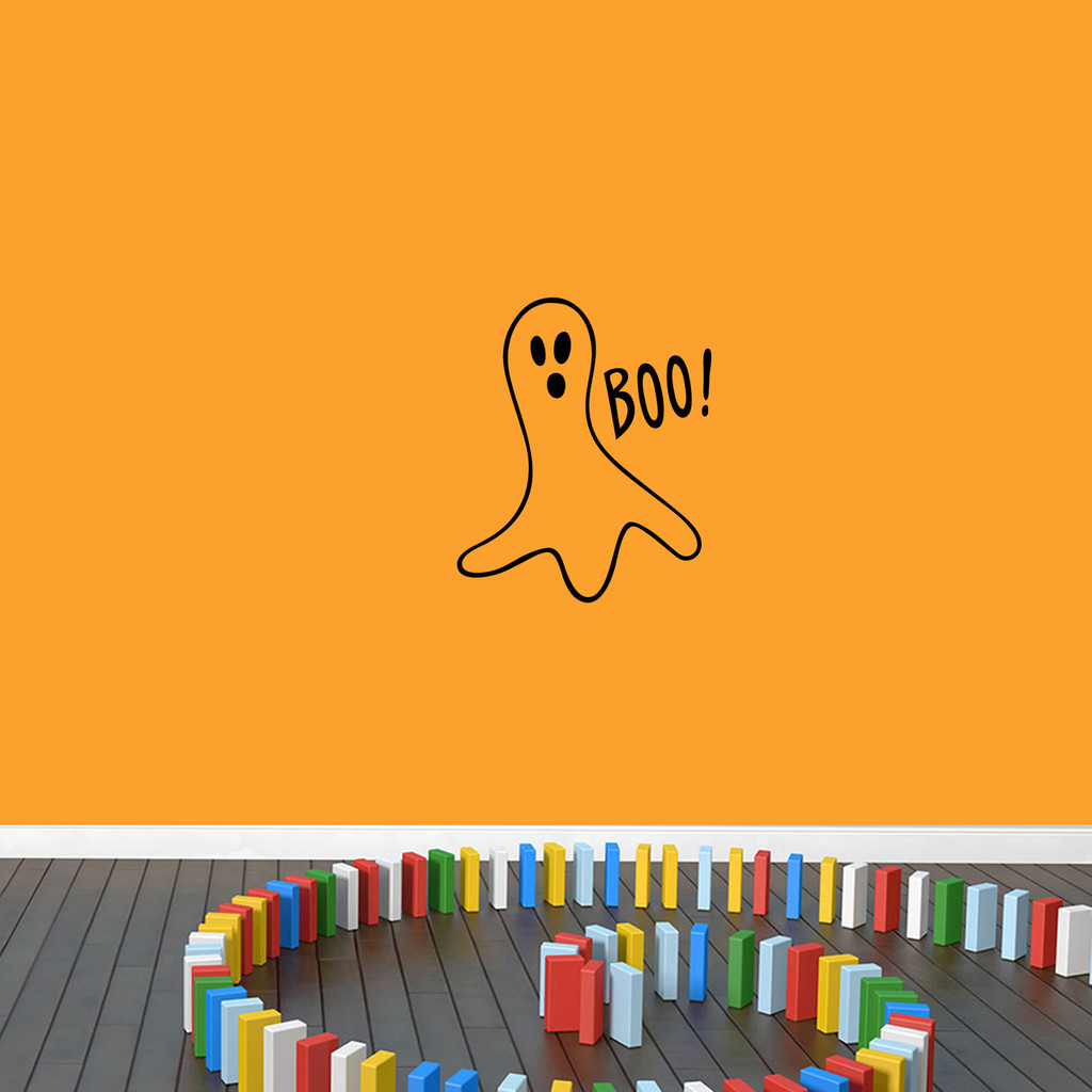"""Ghost Wall Decal 20"""" wide x 24"""" tall Sample Image"""