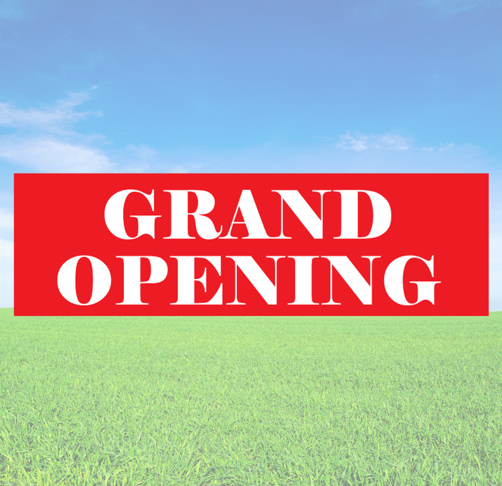 Grand Opening Banner Decals and Stickers