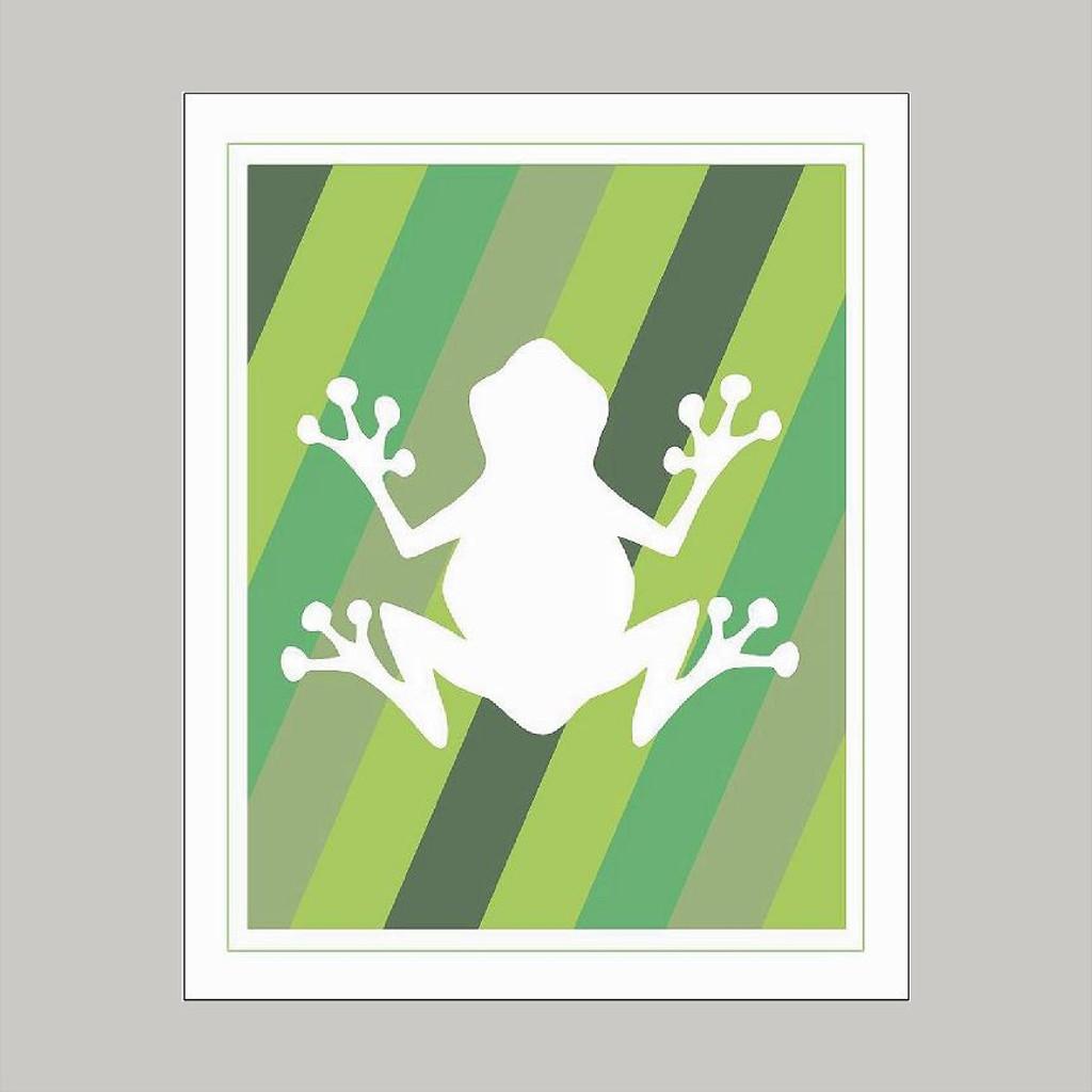 Green Frog Design - Art Print Wall Art and Wall Decal Prints