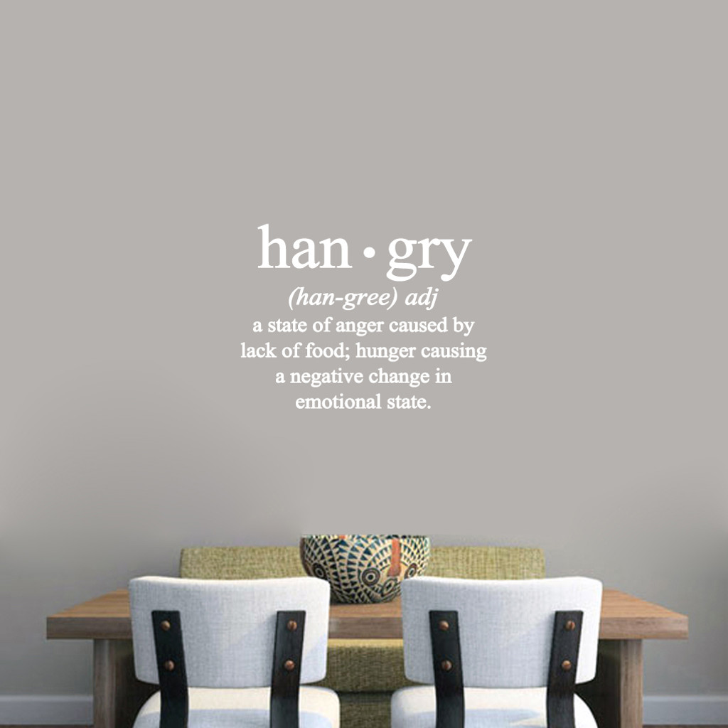 "Hangry Wall Decals 24"" wide x 18"" tall Sample Image"
