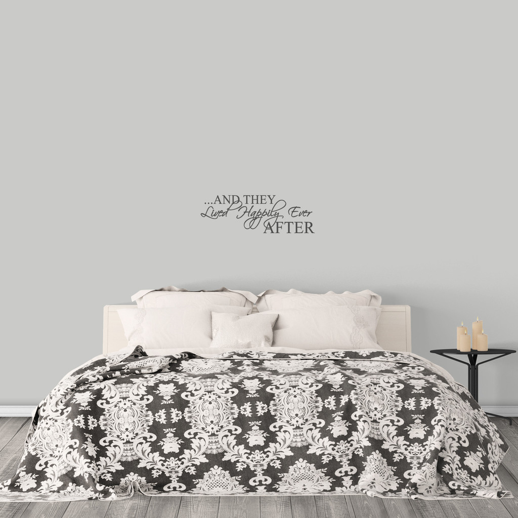 """Happily Ever After Wall Decal 24"""" wide x 8"""" tall Sample Image"""
