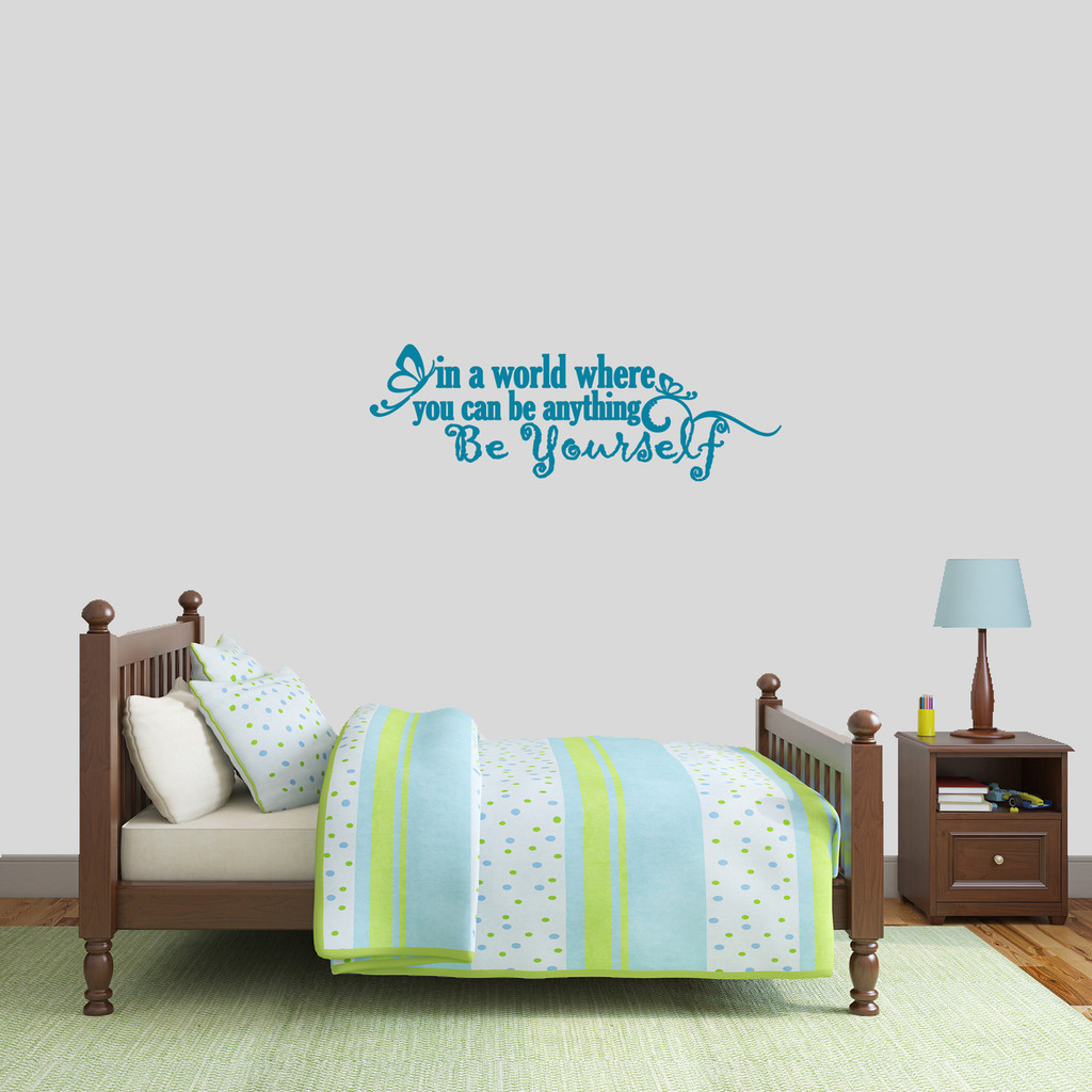 """Be Yourself Wall Decal 36"""" wide x 12"""" tall Sample Image"""