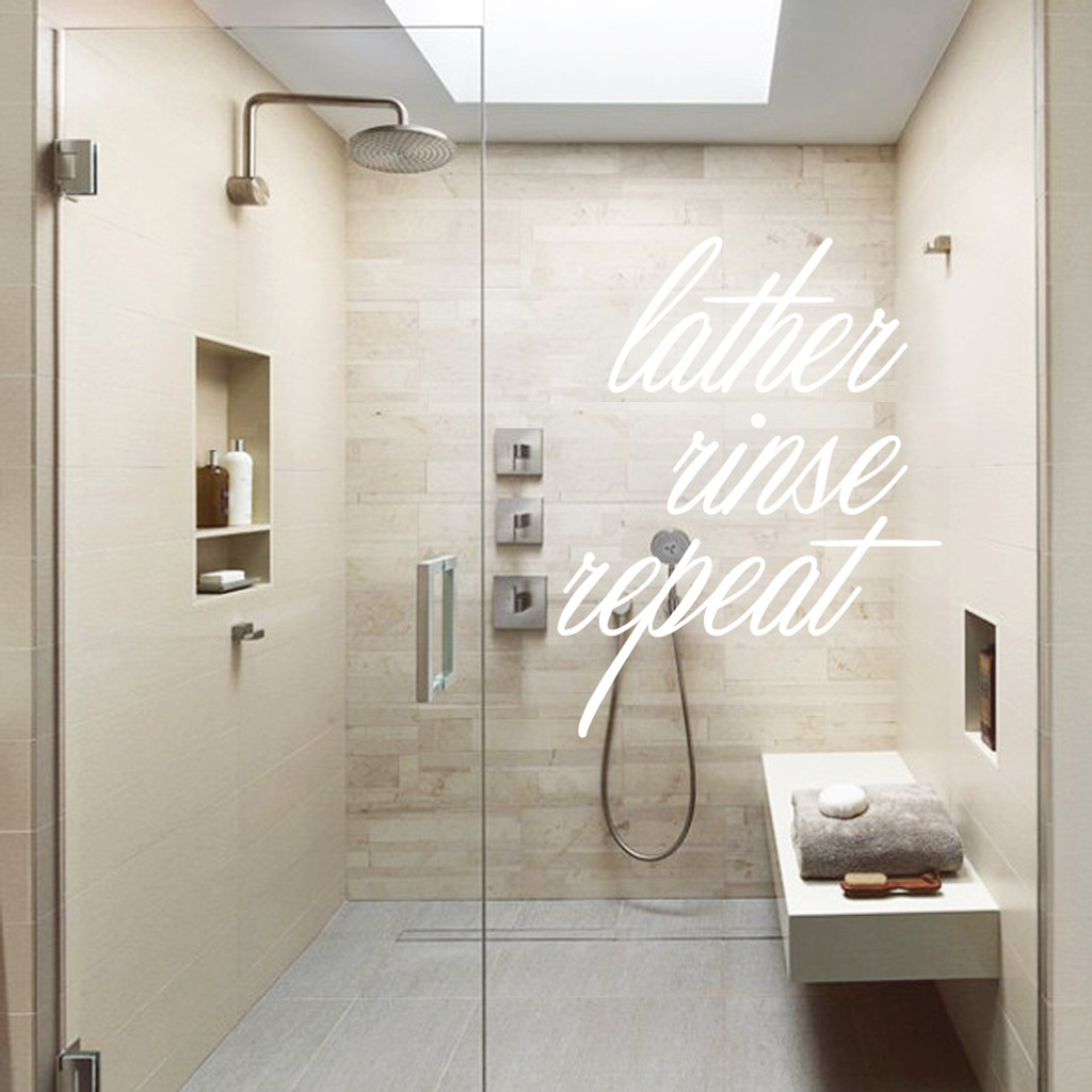 Lather Rinse Repeat Wall Decals and Stickers