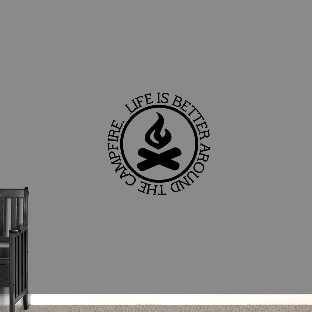 "Around the Campfire Wall Decal 22"" wide x 22"" tall Sample Image"