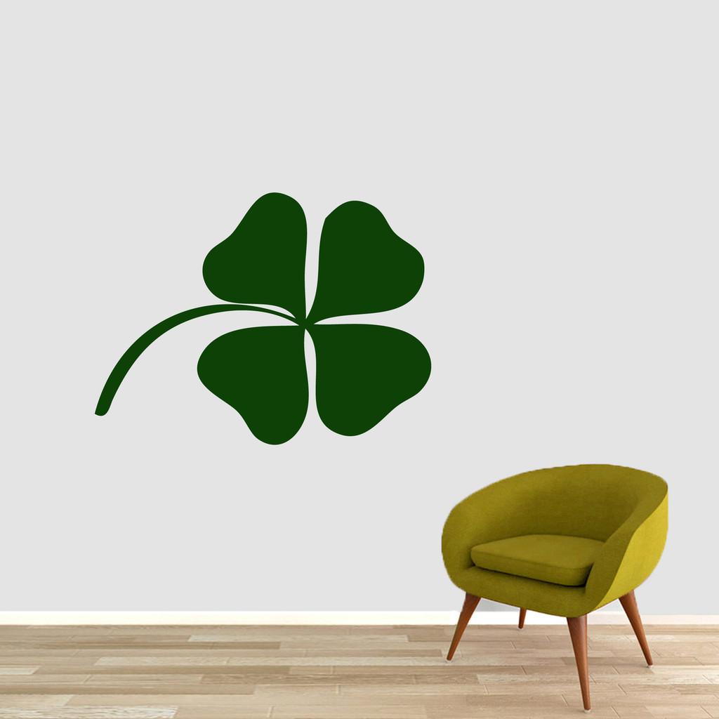 """Four Leaf Clover Wall Decals 36"""" wide x 27"""" tall Sample Image"""