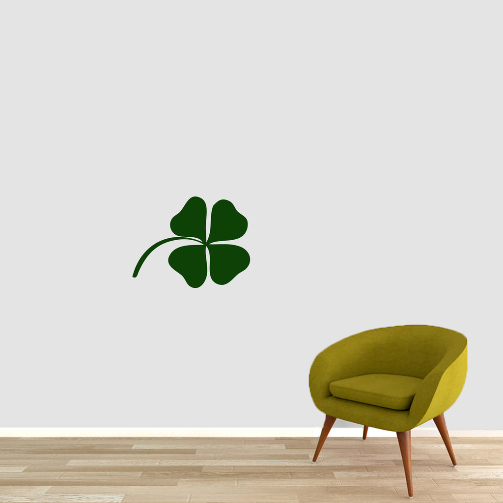 """Four Leaf Clover Wall Decals 18"""" wide x 14"""" tall Sample Image"""