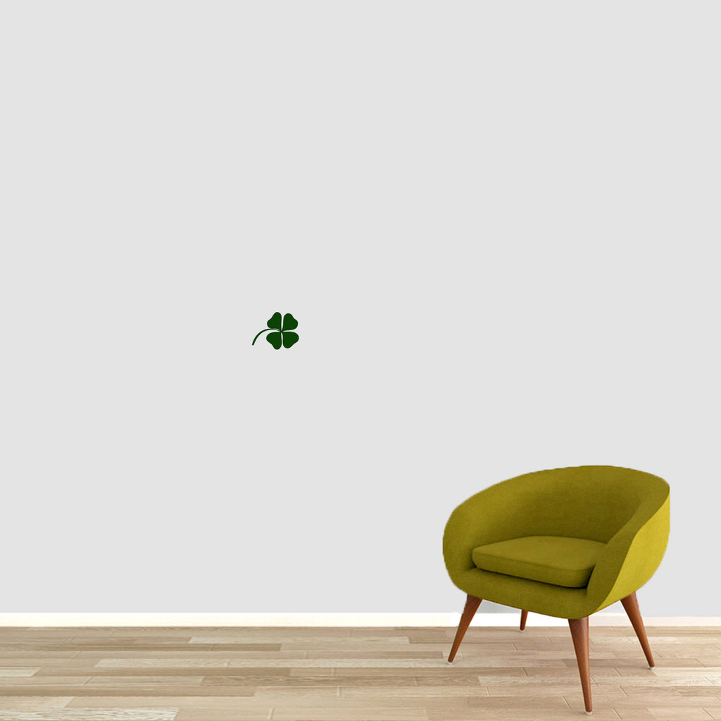 """Four Leaf Clover Wall Decals 5"""" wide x 4"""" tall Sample Image"""