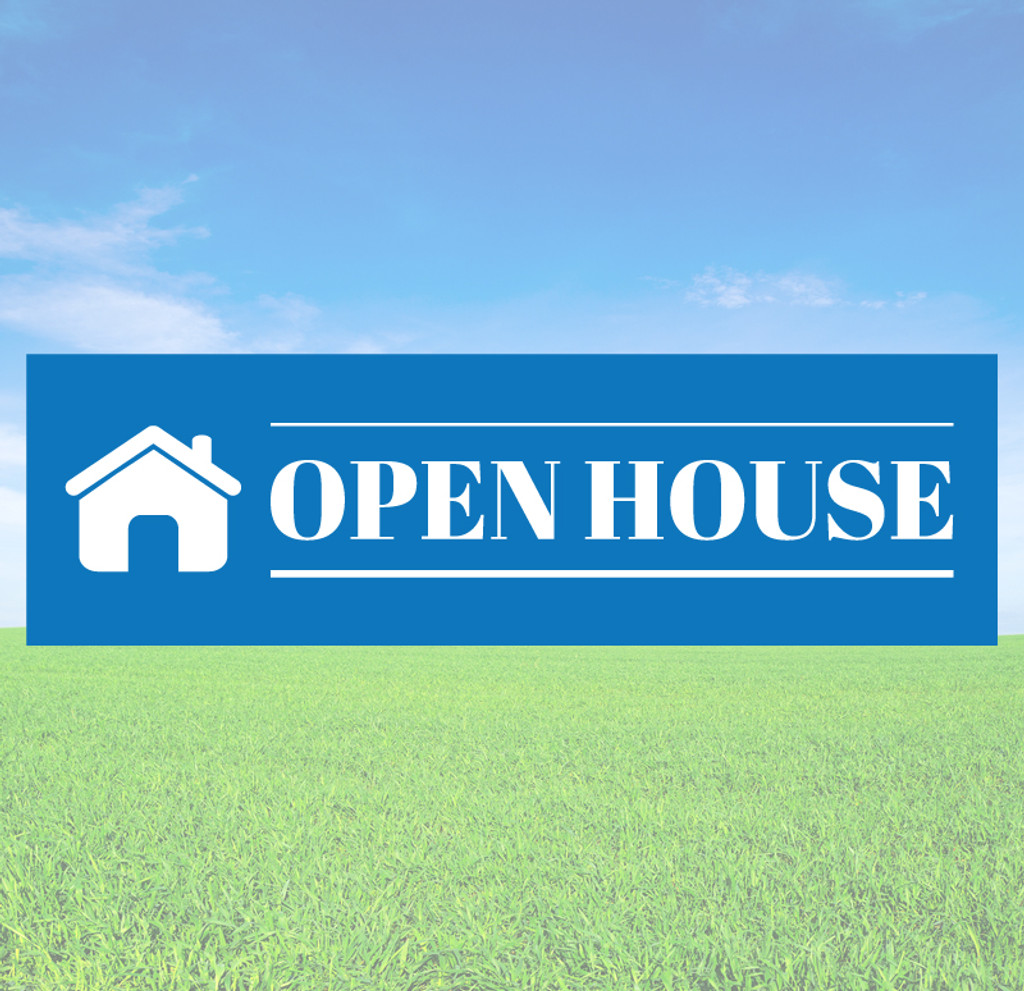 Open House Banner Decals and Stickers