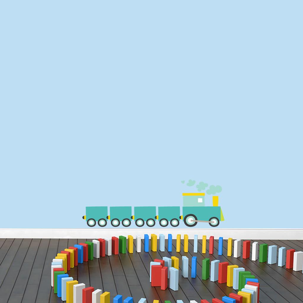 """Choo Choo Train Printed Wall Decals 36"""" wide x 12"""" tall Sample Image"""