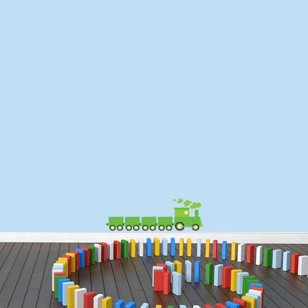 """Choo Choo Train Printed Wall Decals 24"""" wide x 8"""" tall Sample Image"""