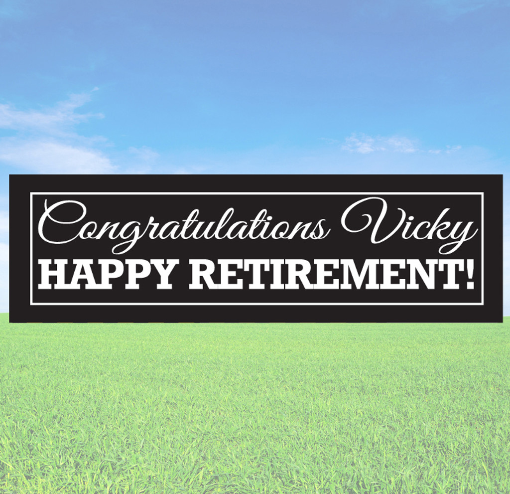 Happy Retirement Banner Decals and Stickers