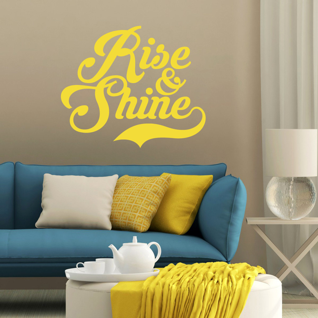 Rise & Shine Wall Decal | Sweetums Wall Decals Home Decor
