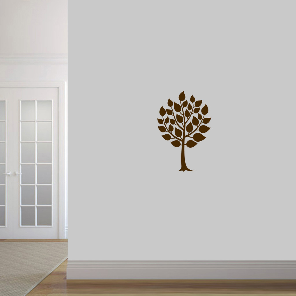 """Round Tree Wall Decal 16"""" wide x 24"""" tall Sample Image"""