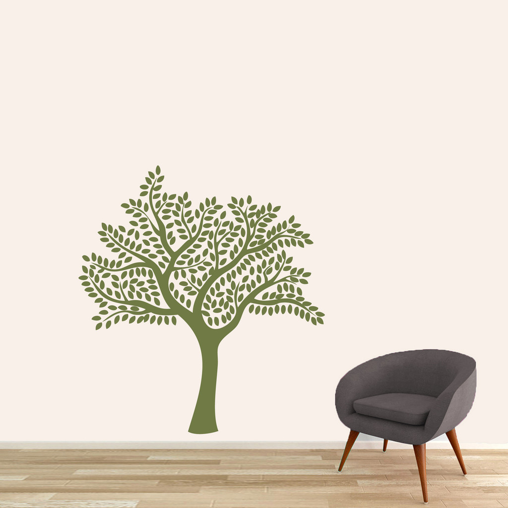 """Shade Tree Wall Decal 44"""" wide x 48"""" tall Sample Image"""