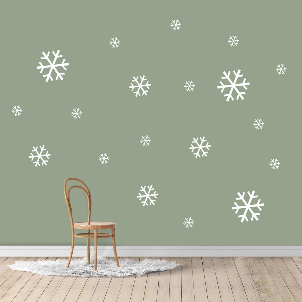 Snowflake Set Wall Decals Sample Image