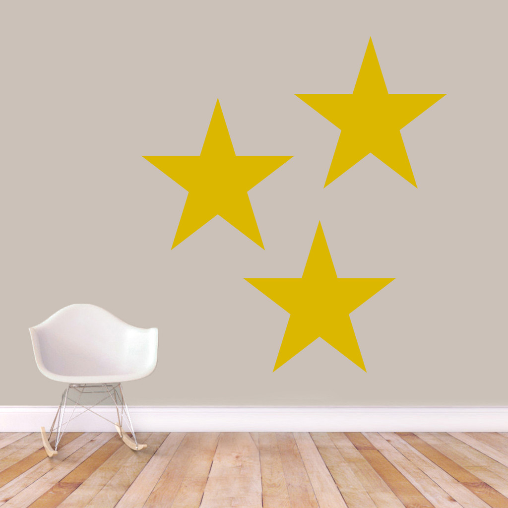 Set Of Stars Wall Decals Extra Large Sample Image
