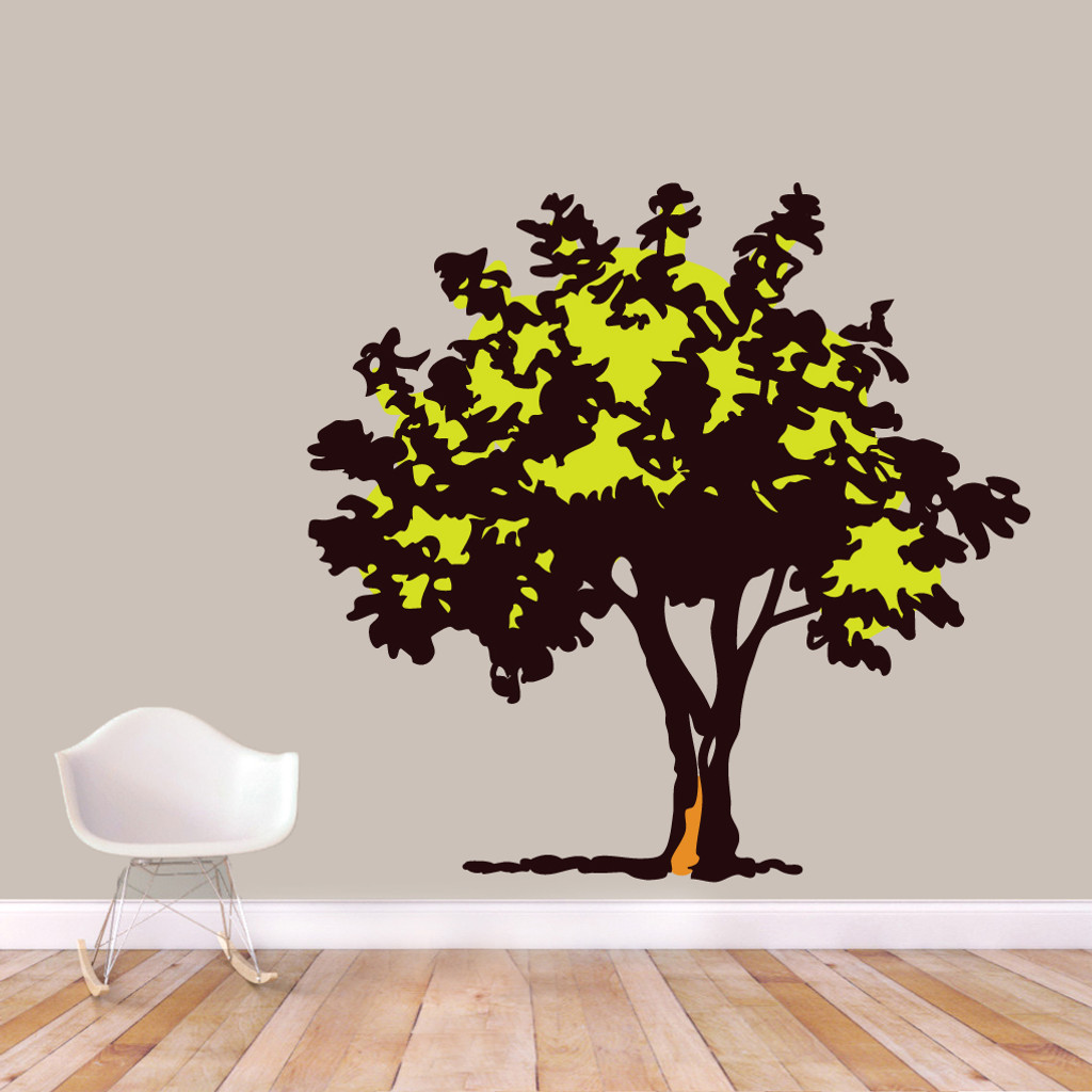 """Storybook Tree Printed Wall Decals 62"""" wide x 60"""" tall Sample Image"""