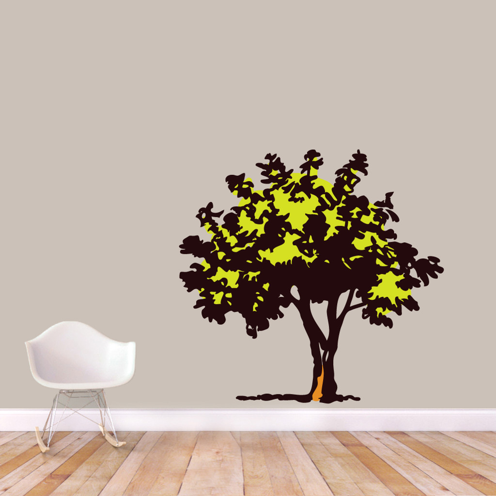 """Storybook Tree Printed Wall Decals 50"""" wide x 48"""" tall Sample Image"""