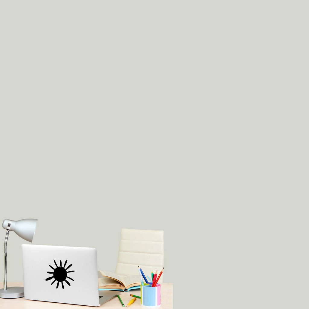 """Summer Sunshine Wall Decal 6"""" wide x 6"""" tall Sample Image"""