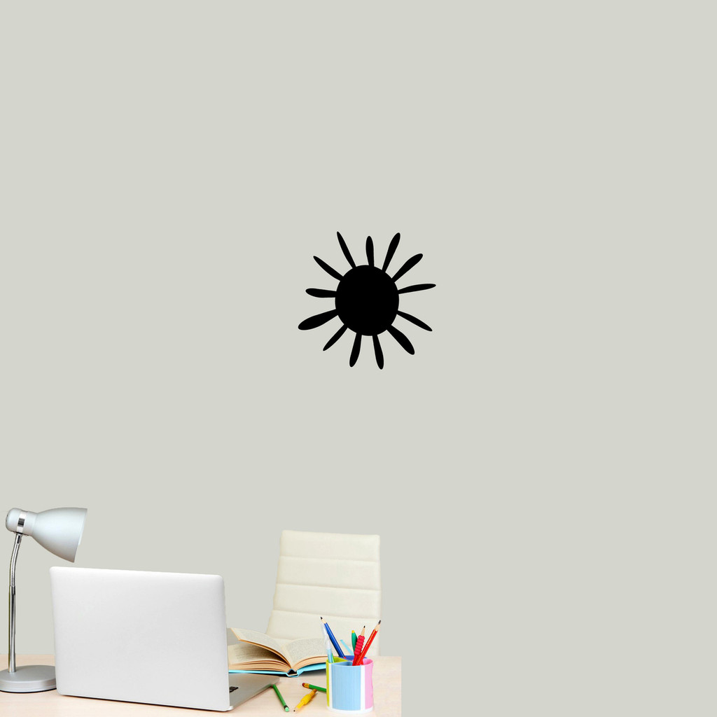 """Summer Sunshine Wall Decal 12"""" wide x 12"""" tall Sample Image"""