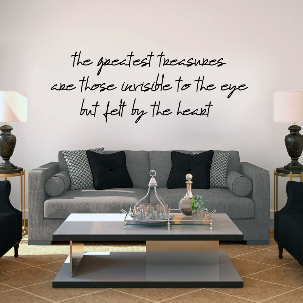 """Greatest Treasures Wall Decals 48"""" wide x 18"""" tall Sample Image"""